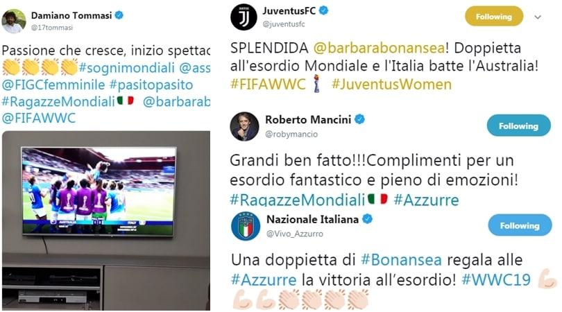 Dalla Juve a Mancini, quanti complimenti per il debutto vincente dell'Italia