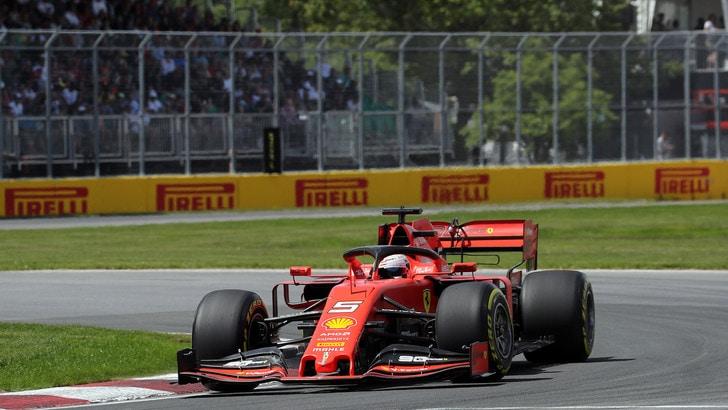 Ferrari al comando in Canada: Vettel davanti a metà gara