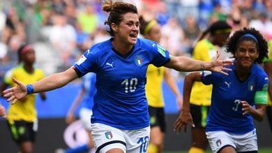 Mondiali femminili, l'Italia vola agli ottavi con Girelli e Galli: pokerissimo alla Giamaica
