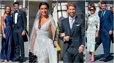 Sergio Ramos, quanti vip al matrimonio: da Morata a Beckham