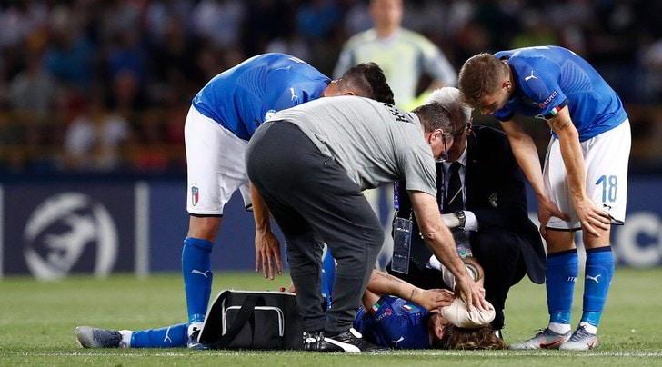 Zaniolo ko: paura durante Italia-Spagna