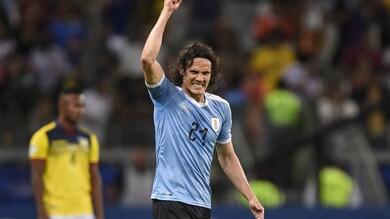Coppa America, l'Uruguay comincia con un netto 4-0 contro l'Ecuador. Cavani a segno in rovesciata