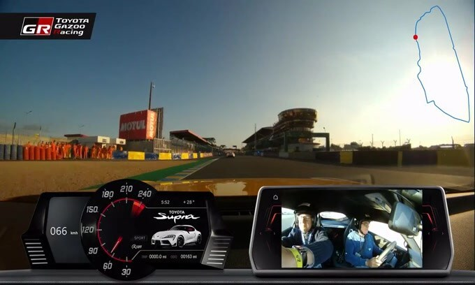 VIDEO: Toyota Supra, on board a Le Mans