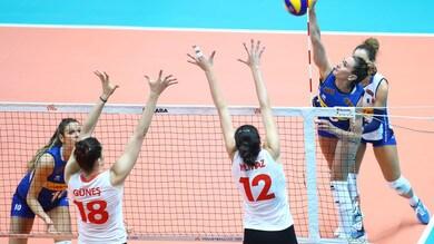 L'Italia doma la Turchia al tie break