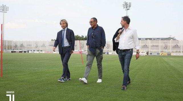 Juve, Sarri con Nedved e Paratici al centro sportivo