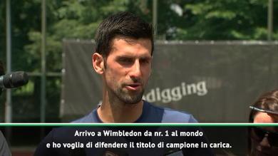 """Djokovic carico: """"A Wimbledon per difendere il titolo"""""""