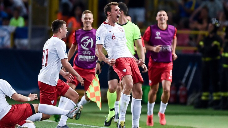Europei U21: Italia battuta dalla Polonia