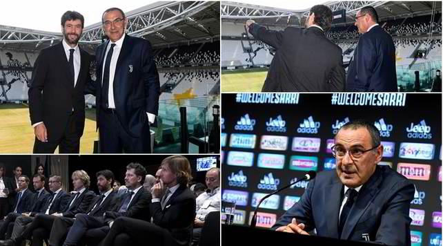 Juve, inizia l'era Sarri: conferenza e giro allo Stadium