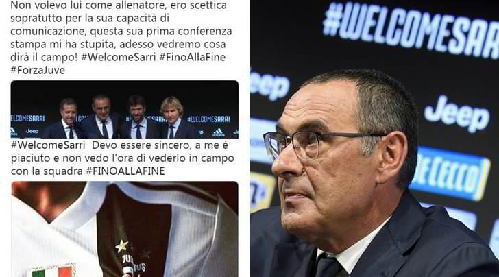 Da #SarriOut a #WelcomeSarri. Le reazioni social dei tifosi della Juventus