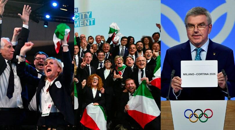 Milano-Cortina 2026, la festa italiana a Losanna