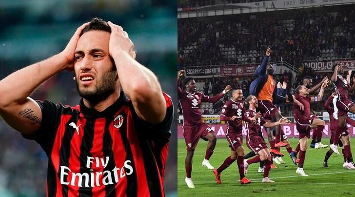 Milan fuori dalle coppe, il Torino è in Europa League