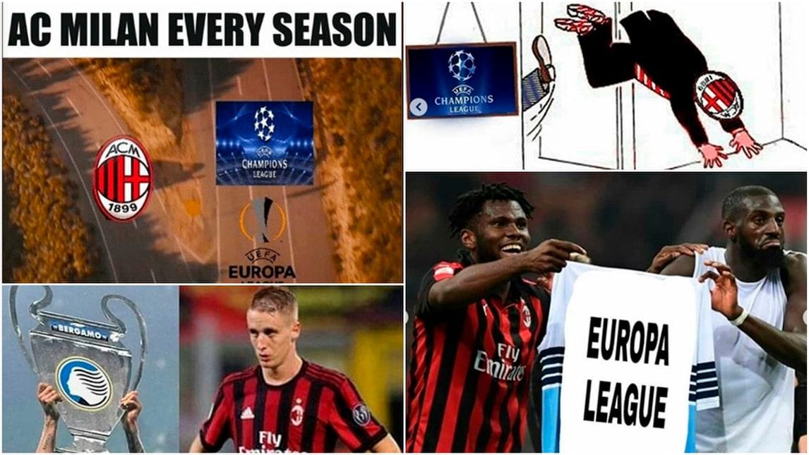 Milan fuori dall'Europa League: il web si scatena