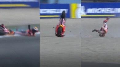 Lorenzo, caduta ad Assen: tanta paura e frattura di una vertebra