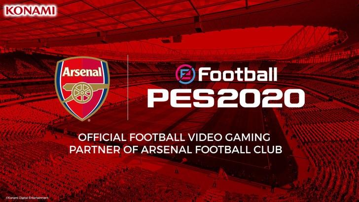 Arsenal e Konami ancora più vicine: estesa la partnership mondiale per PES2020