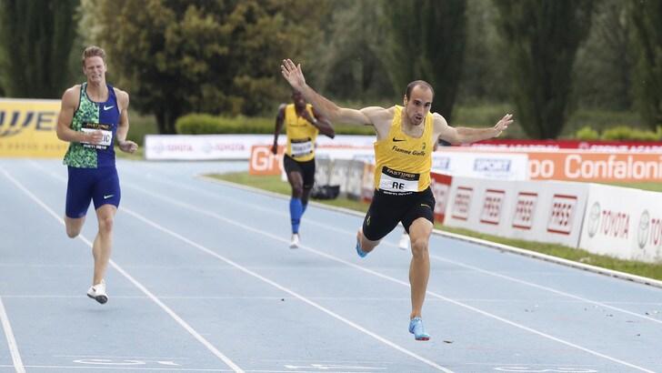 Atletica, Davide Re è il primo italiano a correre i 400 metri in meno di 45''