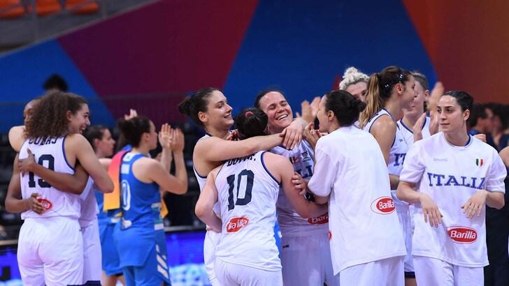 Basket, Europei donne: l'Italia batte la Slovenia e ora sfida la Russia per i quarti