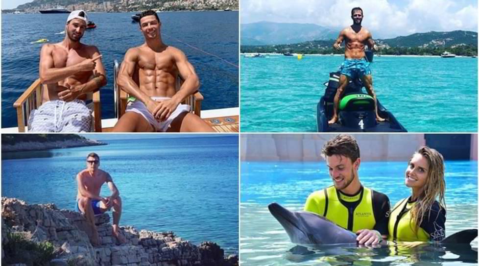 <p>Ronaldo sceglielo yacth e incontra Michael Jordan, Rugani si tuffa coi delfini insieme alla sua Michela mentre Mandzukic si rilassa in Croazia</p>