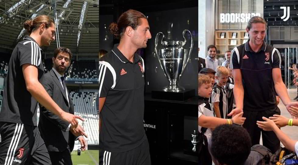 <p>Il neoacquisto bianconero è stato presentato questa mattina all'Allianz Stadium. Dopo la presentazione il centrocampista francese ha visitato prima il campo e lo Juventus Museum e poi èstato accolto allostore da una folla di bambini</p>