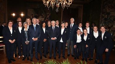 Nazionale femminile ricevuta al Quirinale, Mattarella: