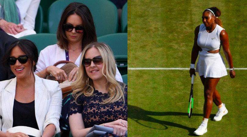 Wimbledon: Meghan, moglie del principe Harry, sugli spalti per Serena Williams