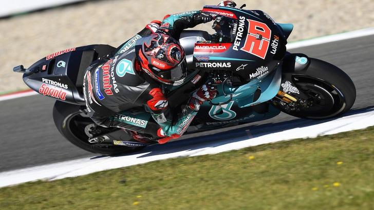 Sachsenring: Quartararo il più veloce nelle prime libere, Rossi terzo
