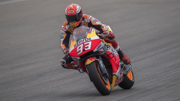 Sachsenring: Marquez davanti nelle terze libere, Rossi undicesimo