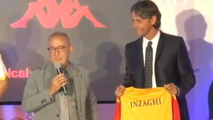 Benevento, Pippo Inzaghi carica l'ambiente: