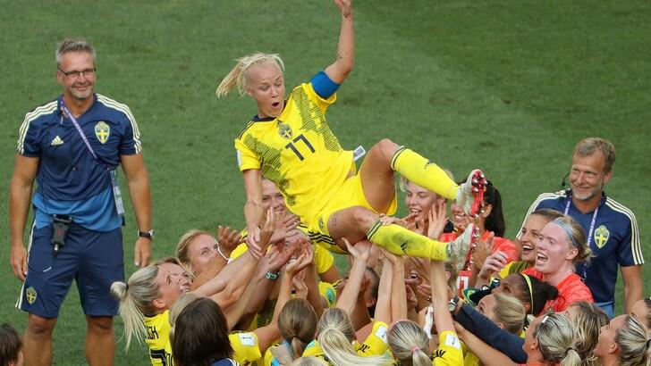 Mondiali femminili, la Svezia supera 2-1 l'Inghilterra ed è terza