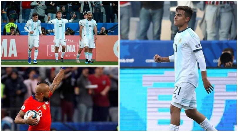 Dybala lancia l'Argentina al terzo posto in Coppa America. Al Cile non basta Vidal