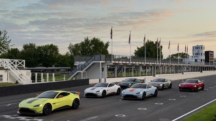 Aston Martin, le auto storiche da corsa omaggiate a Goodwood