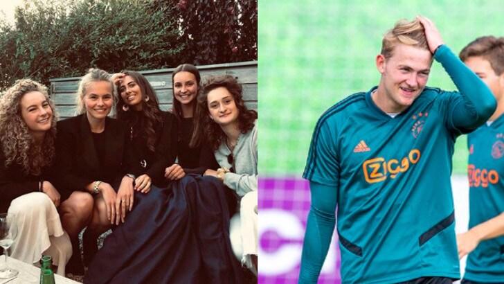 Juve-De Ligt, indizio su Instagram: le amiche salutano la fidanzata Annekee
