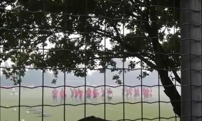 Primo allenamento stagionale per il Milan