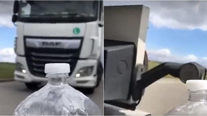 Bottle Cap Challenge, la sfida con il camion - VIDEO