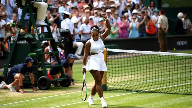 Serena Williams e Halep raggiungono la finale di Wimbledon