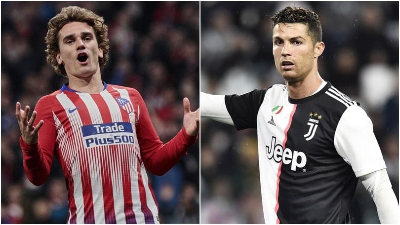 I colpi di mercato più costosi: Griezmann 6°, c'è Ronaldo due volte
