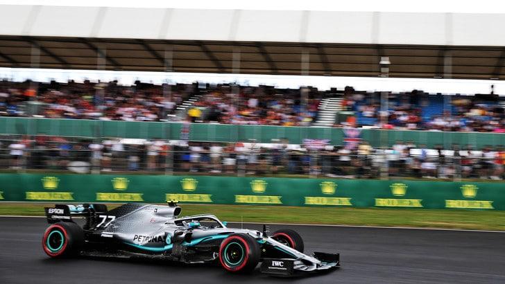 Silverstone: Bottas davanti a Hamilton nelle libere. Ferrari dietro