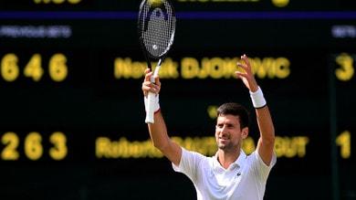 Wimbledon, Djokovic è il primo finalista