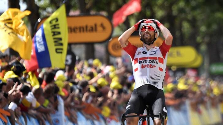 Tour de France, ottava tappa a De Gendt: Alaphilippe riconquista la maglia gialla