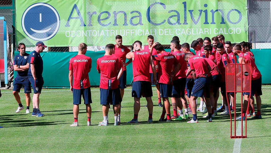 Il Cagliari di Maran si prepara in Trentino per la nuova stagione