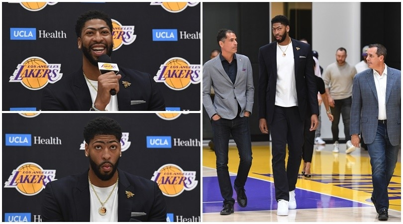 Davis presentato ufficialmente dai Los Angeles Lakers