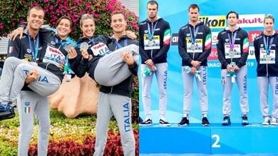 L'Italia del nuoto argento nella staffetta mista, Paltrinieri combatte in acqua