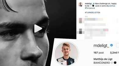 Juve, De Ligt 'bianconero' sui social network