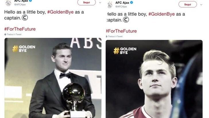 De Ligt diventa #GoldenBye: il saluto dell'Ajax