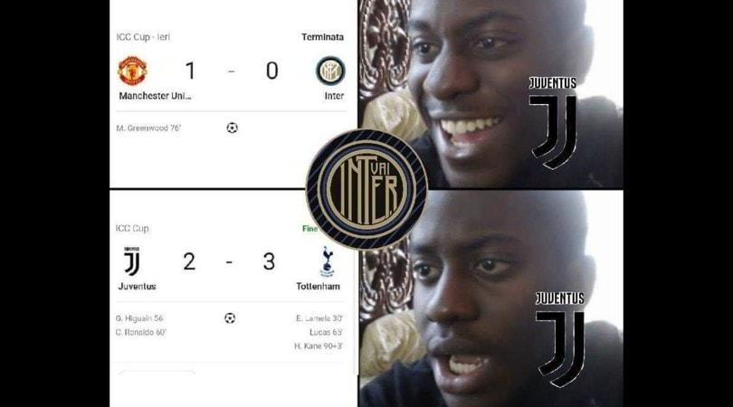 Juve, prima sconfitta stagionale contro il Tottenham: utenti social in delirio