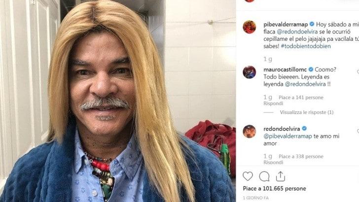 Valderrama spopola su Instragram con i capelli lisci