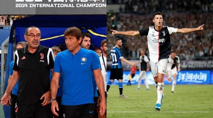 La Juve batte l'Inter ai rigori, Sarri vince il primo duello con Conte