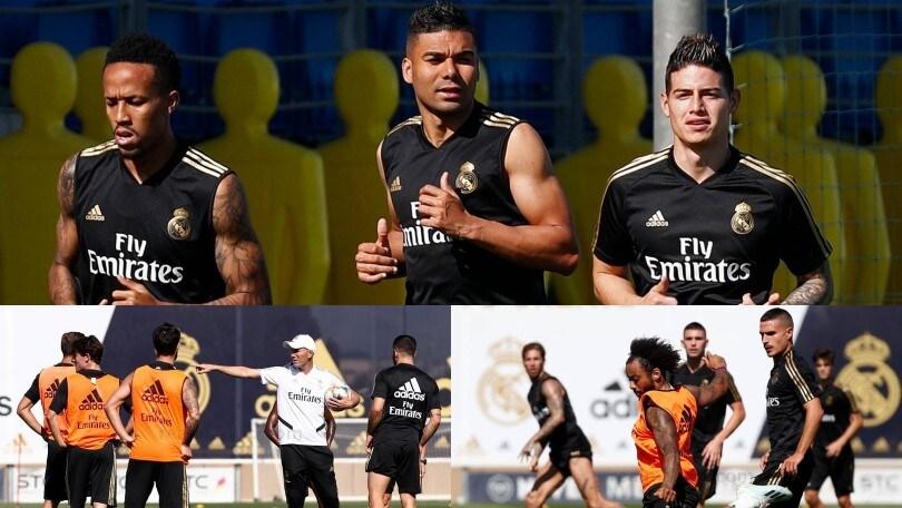 Napoli-James, la trattativa si complica: si allena con il Real Madrid