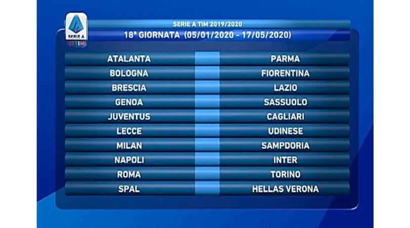 Udinese Calendario 2020.Calendario Serie A 2020 17