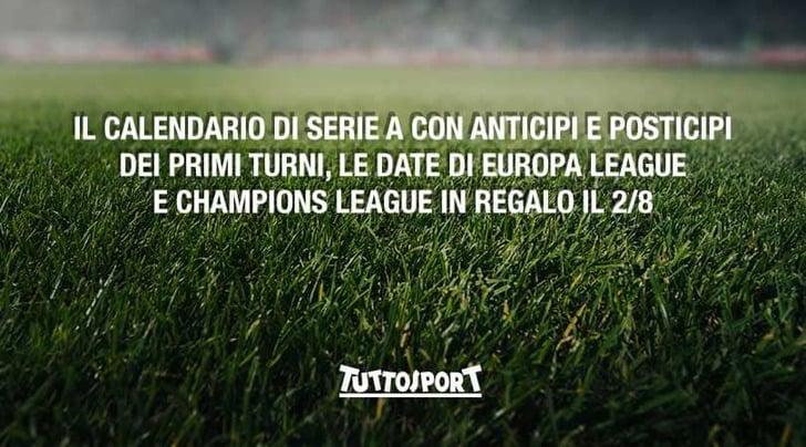 Calendario Di Seria A.Calendario Di Serie A In Regalo Con Tuttosport Finalmente