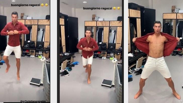 Spogliatoi Juve: il buongiorno di Cristiano Ronaldo